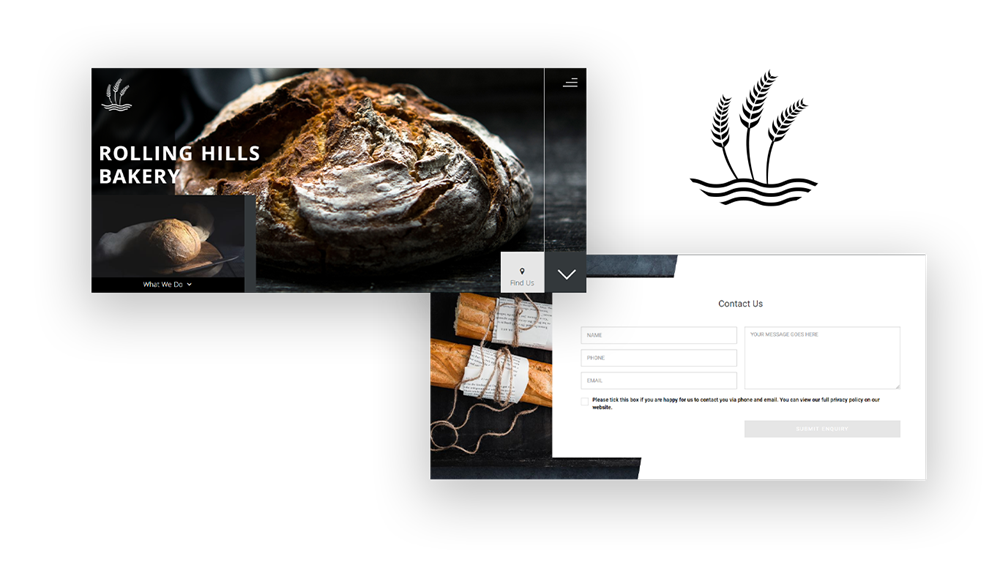 Rolling Hills Bakery Demo Website