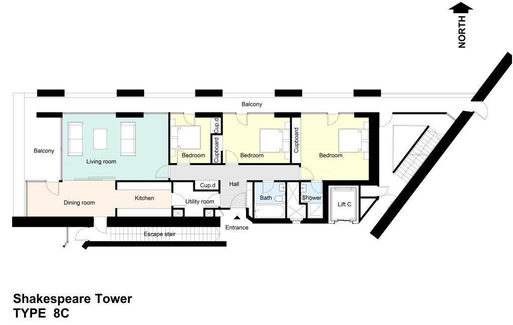 Type 8C Barbican flat