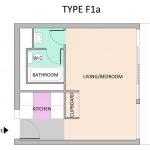 Type F1A Barbican flat