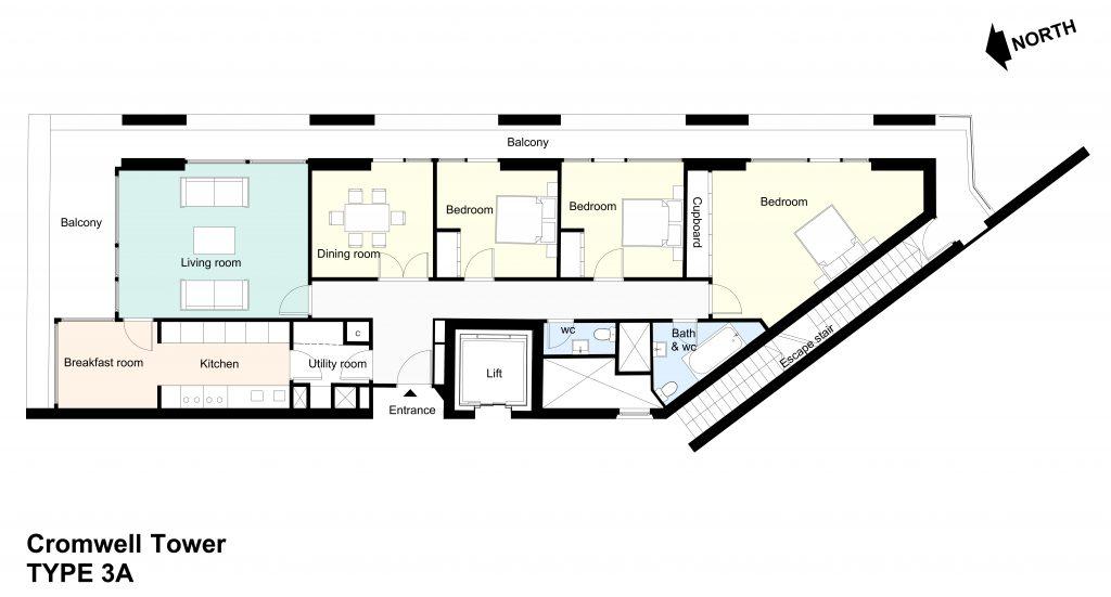 Type 3A Barbican flat