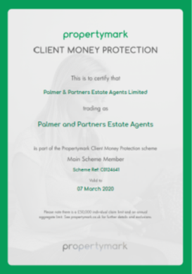 Client money protection. Palmer and Partners.