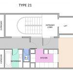 Type 21 Barbican flat