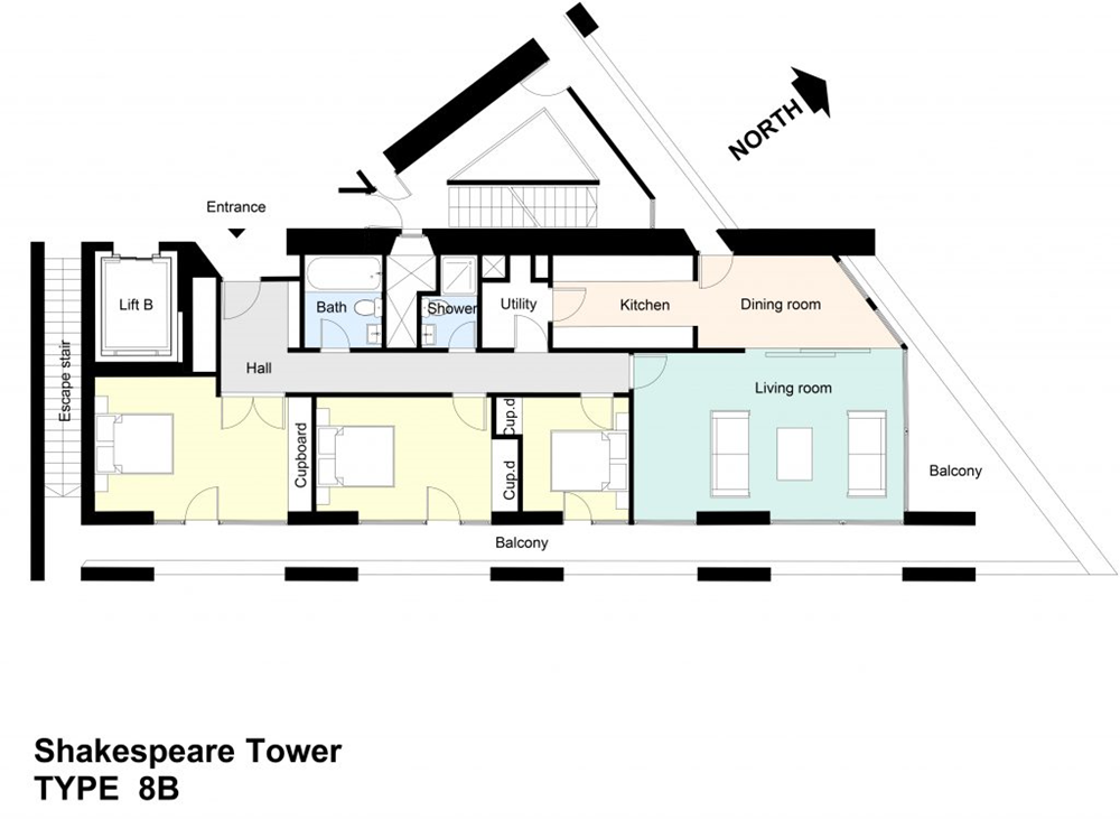 Type 8B Barbican flat